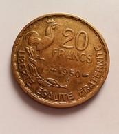 FRANCE 20 FRANCS GEORGES GUIRAUD 1950B  3 FAUCILLES     N°264 DE - France