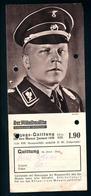 Militaria 2. Weltkrieg Foto Von Funktionären Im 3. Reich Auf Bezugsquittung Der Mitteldeutschen Zeitung Von 1938. - Zeitungen & Zeitschriften