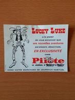 Lucky Luke Publicité Pour Le Journal D'astérix Et Obélix  13,5 Cm/10 Cm - Publicité