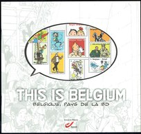 """"""" THIS IS BELGIUM """" - Belgique, Pays De La BD - Edité Par Les Postes Belges - 2012 - Timbres"""