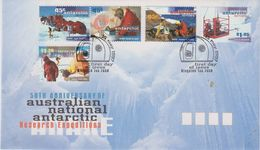 AAT 1997 Antarctic Research Expeditions 5v FDC (42126) - FDC