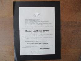 GROUGIS FORTEZ MONSIEUR LEON-MODESTE DEPARIS EPOUX DE MELANIE URANIE CAILLE DECEDE LE 16 DECEMBRE 1938 DANS SA 71e ANNEE - Décès