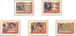 Vaticano. 1972. Mi 605 / 609. Intl. Book Year. Illustrations From Illuminated Medieval Manuscripts - Vaticano