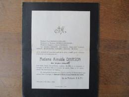 GROUGIS MADAME AIMABLE DHIRSON NEE VIRGINIE COLLART DECEDEE LE 30 MARS 1926 DANS SA 86e ANNEE - Décès