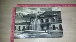 C-69842 AOSTA NUOVA FONTANA E STAZIONE PANORAMA AUTO D'EPOCA FIAT TOPOLINO - Aosta