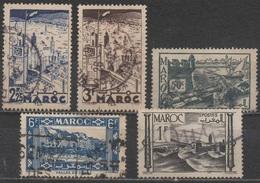 MAROC __N° 188/193/226/233/251__ OBL  VOIR SCAN - Used Stamps