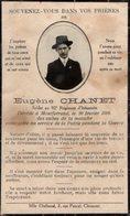 VP14.605 - MILITARIA - Faire - Part De Décès - Soldat E. CHANET 92 ème Rgt D'Infanterie Mort à MONTFERRAND - Décès