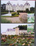 FRANCE - 2011 - PJ  4580 Et 4581 - JARDINS DE FRANCE - VILLANDRY CHEVERNY - FDC