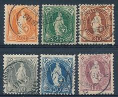 HELVETIA - Mi Nr 58/63 - Gest./obl. - Cote 37,50 € - 1882-1906 Armoiries, Helvetia Debout & UPU