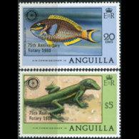 ANGUILLA 1980 - Scott# 389-90 Rotary Opt. Set Of 2 MNH - Anguilla (1968-...)