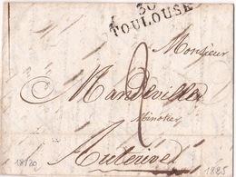 TOULOUSE (31) - 1825-09-21 - MP 39x10 - 1801-1848: Precursors XIX