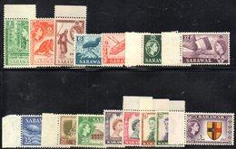 CI1090B - SARAWAK MALAYSIA 1955, Serie Ordinaria 15 Valori Yvert N. 189/203 Integra  *** - Sarawak (...-1963)