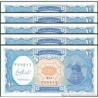 TWN - EGYPT 191 - 10 Piastres L.1940 (2006) DEALERS LOT X 5 - Various Prefixes - Signature: Yousef Boutros Ghali UNC - Egitto