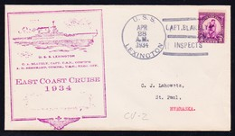 "US Navy, USS""LEXINGTON"" (CV-2)1934,""Cruise-CACHET"" SUNK 1934 !! LOW PRICE !! Look Scan !! 14.11-98 - Boten"