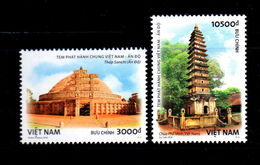 Vietnam Viet Nam MNH Perf Stamps 2018 : Join Issue With India / Pho Minh Pagoda & Sanchi Temple (Ms1087) - Vietnam