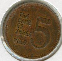 Corée Du Sud South Korea 5 Won 1968 KM 5 - Korea, South