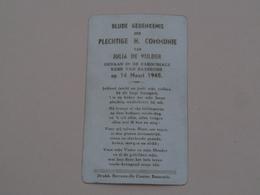 H. Communie Van Julia De VIJLDER > Parochiale Kerk Van BAASRODE Op 14 Maart 1948 ( Druk. Stevens-De Coster ) ! - Communion