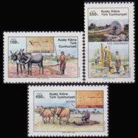 TURKISH-CYPRUS 1989 - Scott# 264-6 Agriculture Set Of 3 MNH - Unused Stamps