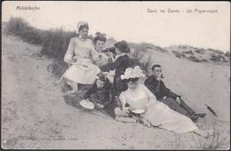 Middelkerke :  Dans Les Dunes - Un Pique-nique (1908) - Middelkerke