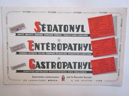 Publicité Buvard Buvards Sédatonyl Entéropathyl Médicia Lyon - Produits Pharmaceutiques