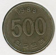 Corée Du Sud South Korea 500 Won 1988 KM 27 - Corée Du Sud