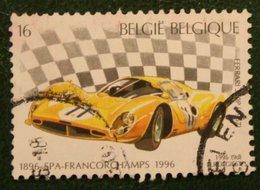 16 Fr Auto Car Voiture Spa Autoraces OCB 2652 Mi 2706 1996 Used Gebruikt Oblitere BELGIE BELGIEN BELGIUM / Belgique - Gebraucht