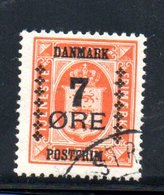 Danemark /  N  174 /  7 Ore Sur 1 Ore Orange  / Oblitéré - Usati