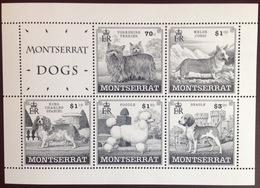 Montserrat 1999 Dogs Minisheet MNH - Perros