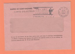 FLAMME TEMPORAIRE PORT PAYE P.P.44 St NAZAIRE Ppal. SUR LETTRE - Marcophilie (Lettres)