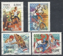 FRANCE J.O. PEKIN 2008 - N° 4222 à 4225 Oblitérés - Usados