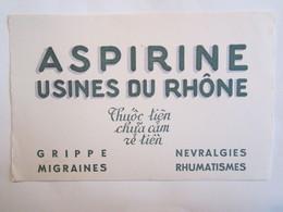 Publicité Buvard Buvards Aspirine Usines Du Rhône - Produits Pharmaceutiques