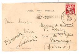 PR6374/ TP 339 S/CP Oostduinkerke C.Oostende+Griffe Oost-Duinkerke 1934 V.Pâturage - Postmark Collection