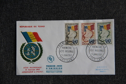 "FDC -  TCHAD , "" Fête Nationale "" -  FORT LAMY  Le 11 Janvier 1961 - Chad (1960-...)"