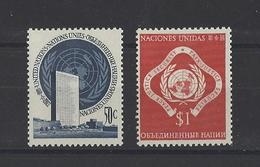 NATIONS UNIES New York  YT   N° 10-11 Neuf **  1951 - New York -  VN Hauptquartier