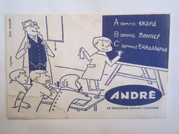 Publicité Buvard Buvards André Le Chausseur Sachant Chausser Illustrateur Massagrier - Chaussures