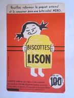 Publicité Buvard Buvards Biscottes Lison Lomme Lez Lille - Alimentaire