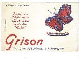 BUVARD  PAPILLON GRISON   ****   A   SAISIR  **** - Animales
