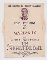 VEDETTES De CINEMA Dans CARNET De BAL Au MARIVAUX. Carte à Système. RAIMU, FERNANDEL, Françoise ROSAY, JOUVET, BELL.... - Entertainers