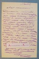 L.A.S Emmanuel FREMIET Sculpteur & Peintre Né à Montrouge - Photographies à Son Atelier - Lettre Autographe LAS - Autographes