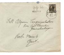 PR6375/ TP 401 S/L.c.Gent 1935 + Griffe Hamme V.E/V - Postmark Collection
