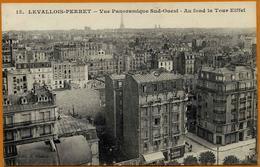 92 / LEVALLOIS PERRET - Vue Panoramique Sud-ouest (vers La Tour Eiffel) - Suresnes