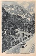 """0911 """"(AO) VALTOURNANCHE - NUOVA STRADAE GOUFFRE DES BUSSERAILLES""""  ANIMATA. CART  SPED 1986 - Aosta"""