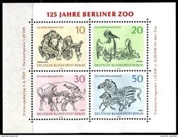 A00-27) Berlin - Mi Block 2 = 338 / 341 - ** Postfrisch - 125 Jahre Berliner Zoo - [5] Berlín