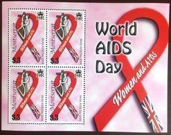 Montserrat 2004 AIDS Minisheet MNH - Montserrat
