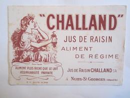 Publicité Buvard Buvards Chailland Jus De Raisin Nuits Saint Georges - Alimentaire