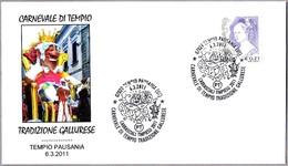 CARNAVAL DE TEMPIO - TRADIZIONE GALLURESE. Tempio Pausania, Olbia-Tempio, 2011 - Carnavales