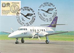 ITALIA - 1986 TORINO 2 Annulli Volo Inaugurale LH 1355 JETSTREAM 31 Disp.per Monaco E LH 1351 Disp. Per Stoccolma - 3060 - Avions