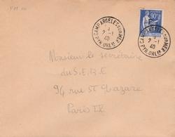FM 10 OBLIT. CAMP ARGELES S/MER - 2.1.40 - Franchise Militaire (timbres)