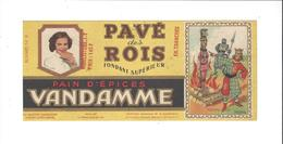 BUVARD  PAIN D EPICES  VANDAMME   PAVE DES ROIS   ****   RARE  A   SAISIR  **** - Pain D'épices