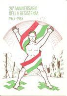 ITALIA - 1965 TORINO Mostra 20° Anniv RESISTENZA A Palazzo Carignano Timbro Rosso Su Cartolina Speciale - Seconda Guerra Mondiale